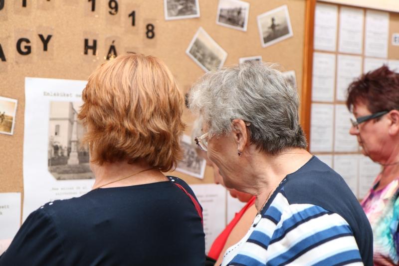 I. világháborús emlékmű újraavatása 2017.