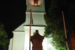 Református templom este